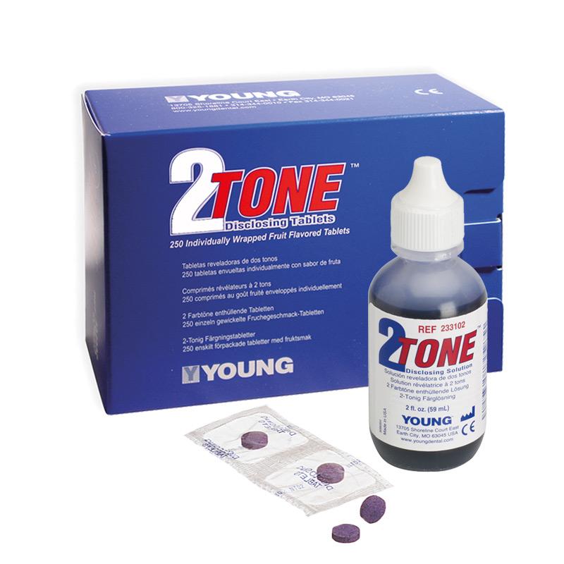 Young 2-Tone Anfärbelösung Anfärbetabletten