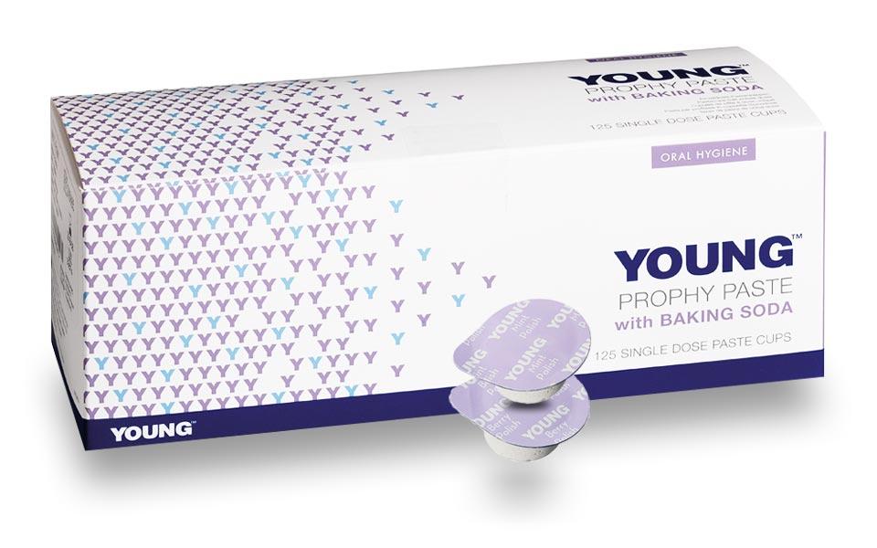 Young polijstpasta voor tanden met baking soda - verpakking en enkelvoudige dosis
